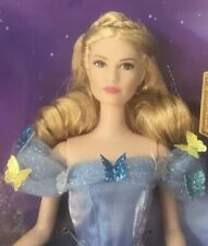 2015 Disney Cinderella at the Ball Lily James Barbie doll in blue dress NRFB