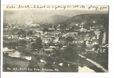 1906 Postcard Bird's Eye View Ridgway PA UNDIVIDED