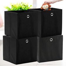 4 Set Faltbox Orange 32 x 32 cm Faltkiste Regalbox Aufbewahrungsbox Stoffbox DE