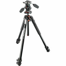 Manfrotto MK190XPRO3-3W Aluminum Tripod with 3-Way Pan/Tilt Head. EU Seller. NEW
