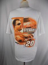 Nascar Tony Stewart 20 Men's XL T-Shirt Shirt White Home Depot Winner's Circle