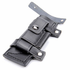 "EW Straight Leather Case Black Belt Sheath For Less 7"" Fixed Knife Pouch Gift"
