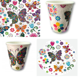 Stained Glass Butterfly Birthday Party Tableware Napkin Plates Cups Party