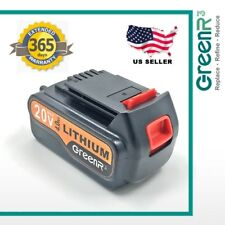 20V 4.0AH Lithium-Ion Battery for Black & Decker 20 Volt LBXR20 4000mAh Replace