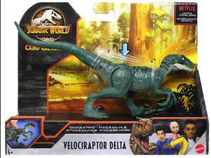 Jurassic World Camp Cretaceous Savage Strike Velociraptor Delta Figure NEW 2020