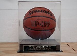 Shaquille O'Neal Basketball Display Case With A Miami Heat Engraved Nameplate
