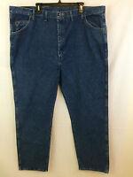 Wrangler Mens Blue Denim Regular Straight Fit Jeans Size 48x32