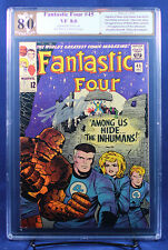 FANTASTIC FOUR #45 (Marvel) PGX 8.0 VF Very Fine signed by writer STAN LEE! +CGC