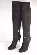 EINO FOR LE SILLA HI HEEL STUDDED BLACK SUEDE OVER THE KNEE BOOTS EU 39 US 8.5