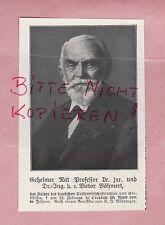 Werbung 1918, Bildnis Portrait Fotografie Geh. Rat Prof. Dr. jur. Ing V. Böhmert