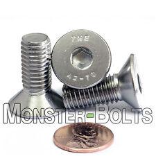 M10-1.5 x 25mm - Qty 10 - DIN 7991 Stainless Steel FLAT HEAD Socket Cap Screws
