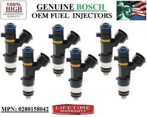 6 OEM Fuel Injectors Bosch for 06-07-08 Infiniti M35 3.5L V6 #0280158042