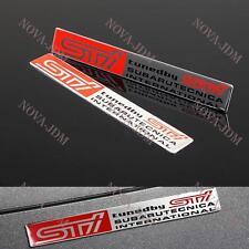 X2 Subaru STi Car Body Trunk Emblem Badge Sticker Decal for Impreza WRX STI BRZ