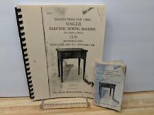 Singer 15-91 Sewing Machine Instruction Manual Very Large Print