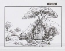 Nellie Snellen / Clear /Old House Scene / Tree House /UNMOUNTED / stamp / IFS012
