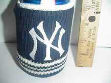 New York Yankees MLB Baseball Beer Holder Tailgate Party CAN Woolie Knit COOLIE