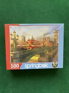 Springbok's 500 Piece Jigsaw Puzzle Westminster Bridge NEW SEALED COMPLETE