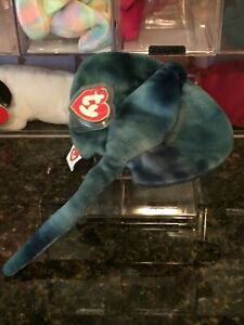Authentic *Rare* STING the Tie-Dyed Stingray 3rd/2nd Generation Ty Beanie Baby !