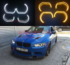 4x Angel Eyes DTM STYLE E92 E93 E90 M4 STYLE For BMW 3 Series Headlights