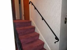 """6-7 Steps HAND RAILS 84""""  WROUGHT IRON WALL MOUNTED STAIR CASE Grab HANDRAILINGS"""