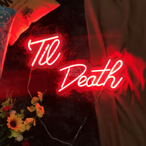 Custom Neon Sign Til Death Separable Neon Light Acrylic for Room Home Wall Decor