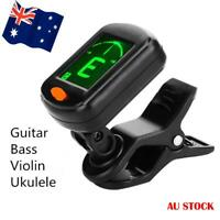 Clip On Chromatic Guitar Tuner Full Colour Display Guitar Bass Ukelele Violin