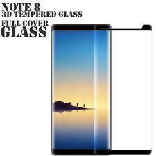 New HD Galaxy Note 8 Screen Protector Black Tempered Glass Film Case Friendly
