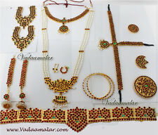10 pieces Temple Jewellery stones South Indian Bridal Bharatanatyam Dance Je010