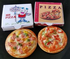 1:12 Dollhouse Miniatures 2 Pizza with Take Away Boxes Toy Food Supply Set C