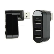Mini 3 Ports USB 2.0 Rotate Splitter Adapter Hub for PC Notebook Laptop Mac