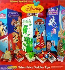 1998 McDonalds Disney Video Favorites MIP Complete Set, Boys & Girls, 3+