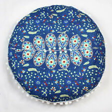 Indian Mandala Pillows Cases Round Floor Bohemian Home Sofa Car Cushion Cover Multicolor C