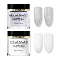 2 Boxes 10ml BORN PRETTY Nail Art Dipping Powder Natural Dry Long Lasting French