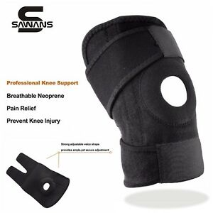 Adjustable Neoprene Gel Open Cap Patella Knee Support Pad Strap Brace Black UK