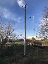 Tilting security cctv, lighting, weather station, antenna mast