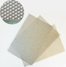 3mm Hole x 1mm Thick Stainless Steel Perforated Sheet 3 PACK=A4(210x300mm) x 3