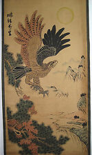 Rare antique chinese museum painting scroll Eagle by Huang Shanshou 黄山寿 大鹏展翅