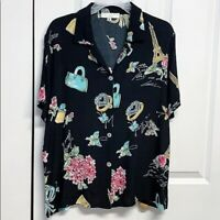 David Dart Blouse Size M French Print