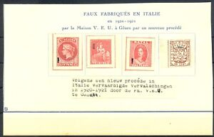ENGLISH COLONY -FORGERY AFFIXED TO PAGE --4 x ST - PRODUCED IN ITALY