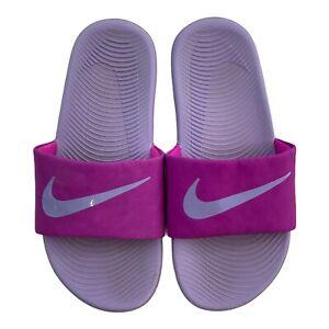 Nike Kawa Slide Kids Sandals Pink / Purple (GS/PS) 819353 601 Youth Sz 4 GUC