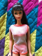 Beautiful Vintage Twist n Turn Barbie Nm/Unplayed W/Orig Pink Box Marked Darkest