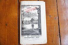 More details for 1939 edinburgh transport city centre map tram bus coach routes