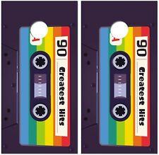 Cassette Tape Wraps for Cornhole Boards Skin Vinyl Decal For Game JO1348