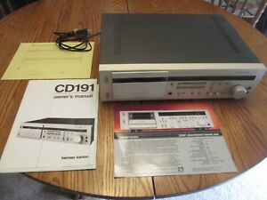 Harman Kardon CD191 ultrawideband linear phase cassette deck, used, works,manual