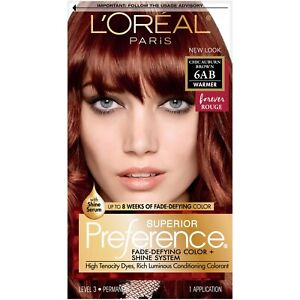 L'Oreal Superior Preference 6AB Chic Auburn Brown Hair Color