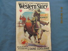 "WESTERN STORY MAGAZINE "" Pulp  JULY 5,1930   STREET & SMITH  PUBLICATION"