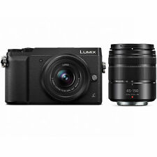 Panasonic LUMIX GX85 4K Mirrorless Camera with 12-32mm & 45-150mm Lenses -Black