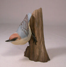Brown-headed Nuthatch Original Bird Carving/Birdhug