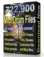 722,900 Drum Midi Pack Collection 2020 Ableton Cubase  Logic, FL Studio, Reason