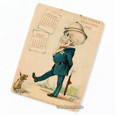 Antikamnia 1900 Calendar #4 Deco Magnet, Antique Illustration Skeleton Fridge